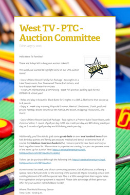West TV - PTC - Auction Committee