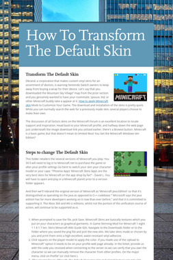 How To Transform The Default Skin