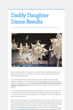 Daddy Daughter Dance Results