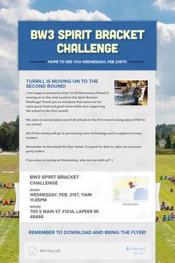 BW3 Spirit Bracket Challenge