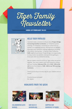 Tiger Family Newsletter