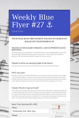 Weekly Blue Flyer #27   ⚓️