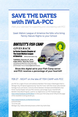 SAVE THE DATES with IWLA-PCC