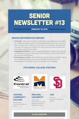 Senior Newsletter #13