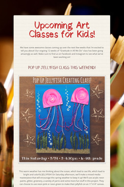 Upcoming Art Classes for Kids!
