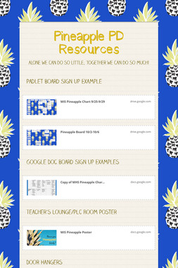 Pineapple PD Resources