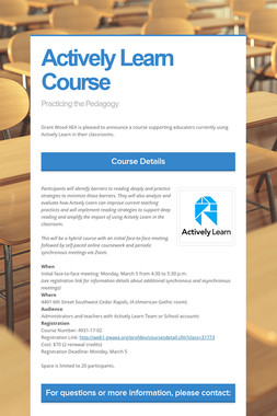 Actively Learn Course