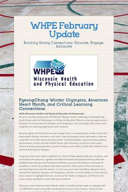 WHPE February Update