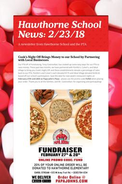 Hawthorne School News: 2/23/18