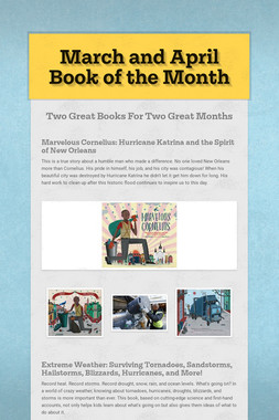 March and April Book of the Month