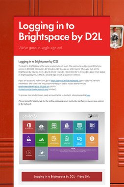 Logging in to Brightspace by D2L