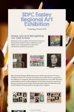 SDPC Easley Regional Art Exhibition