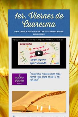 1er. Viernes de Cuaresma