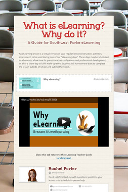 What is eLearning? Why do it?