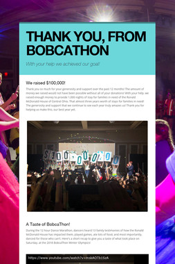 THANK YOU, FROM BOBCATHON