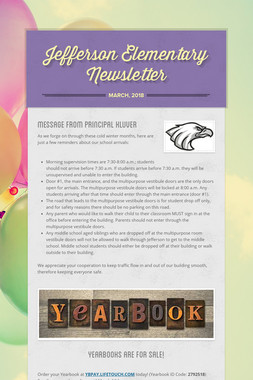 Jefferson Elementary Newsletter