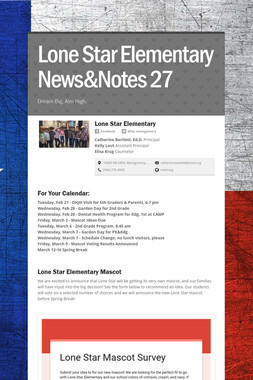 Lone Star Elementary News&Notes 27