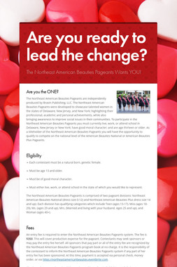 Are you ready to lead the change?