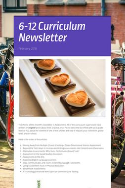 6-12 Curriculum Newsletter