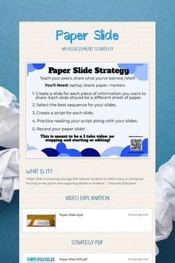 Paper Slide