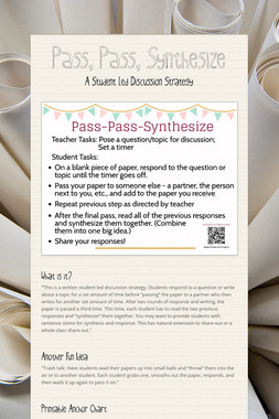 Pass, Pass, Synthesize