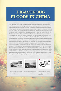 Disastrous Floods in China