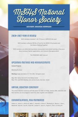 MSHS National Honor Society