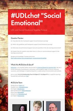 """#UDLchat """"Social Emotional"""""""