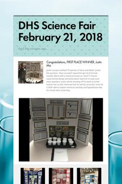 DHS Science Fair February 21, 2018