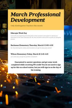 March Professional Development