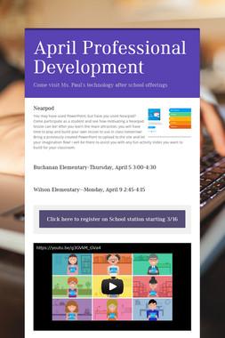 April Professional Development