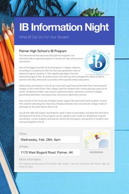 IB Information Night