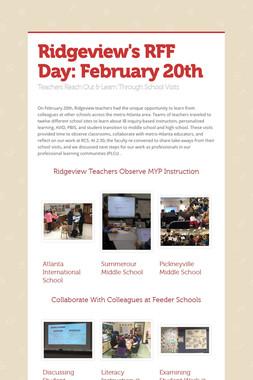 Ridgeview's RFF Day: February 20th