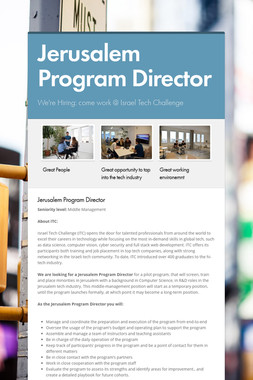 Jerusalem Program Director