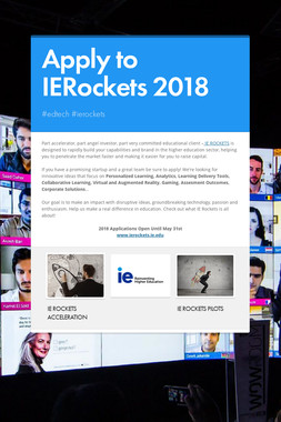 Apply to IERockets 2018