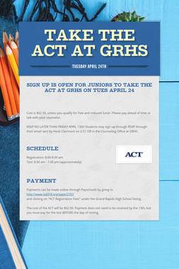 Take the ACT at GRHS