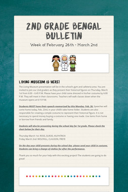 2nd Grade Bengal Bulletin