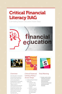 Critical Financial Literacy ItAG