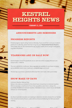 Kestrel Heights News