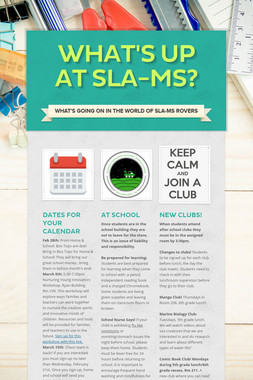 What's Up at SLA-MS?