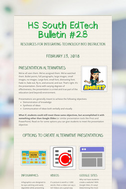 HS South EdTech Bulletin #2.8