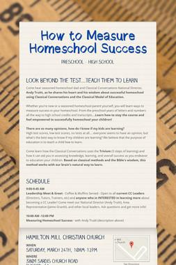 How to Measure Homeschool Success