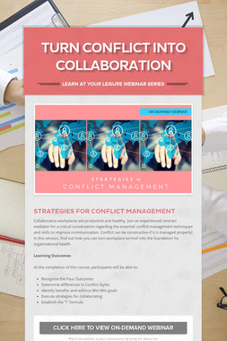 Turn Conflict into Collaboration