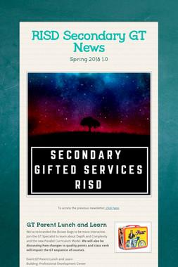 RISD Secondary GT News