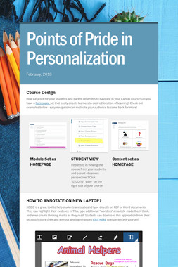 Points of Pride in Personalization