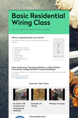 Basic Residential Wiring Class
