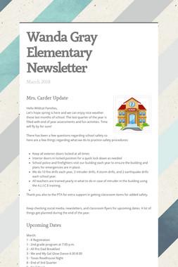 Wanda Gray Elementary Newsletter
