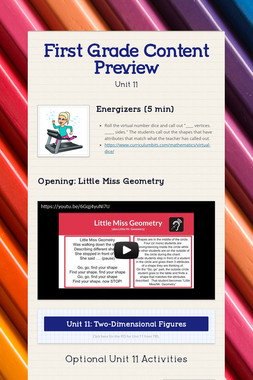First Grade Content Preview