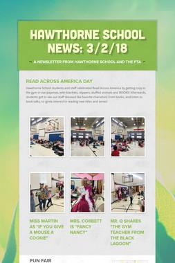 Hawthorne School News: 3/2/18