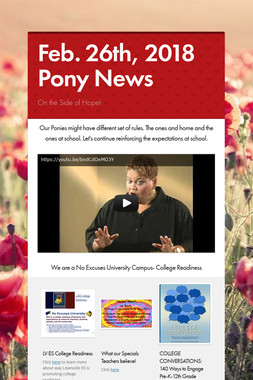 Feb. 26th, 2018 Pony News